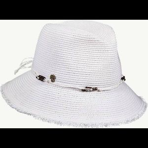 New Tommy Bahama Braided Fedora Hat W/ Raw Edge